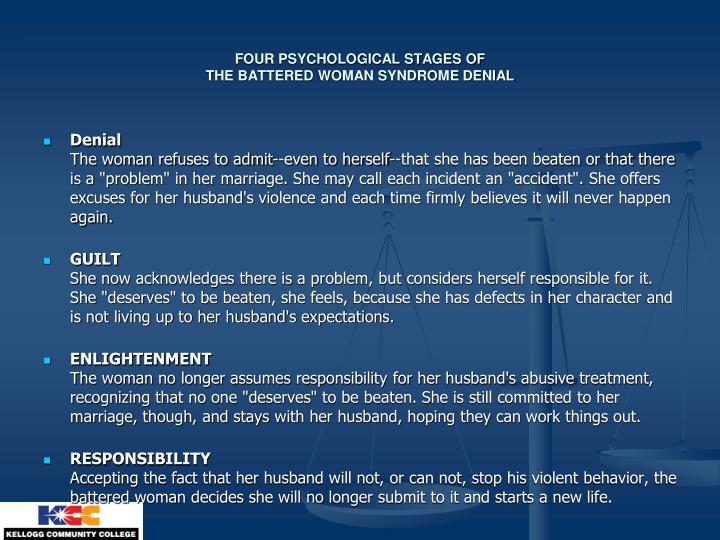 FOUR PSYCHOLOGICAL STAGES OF