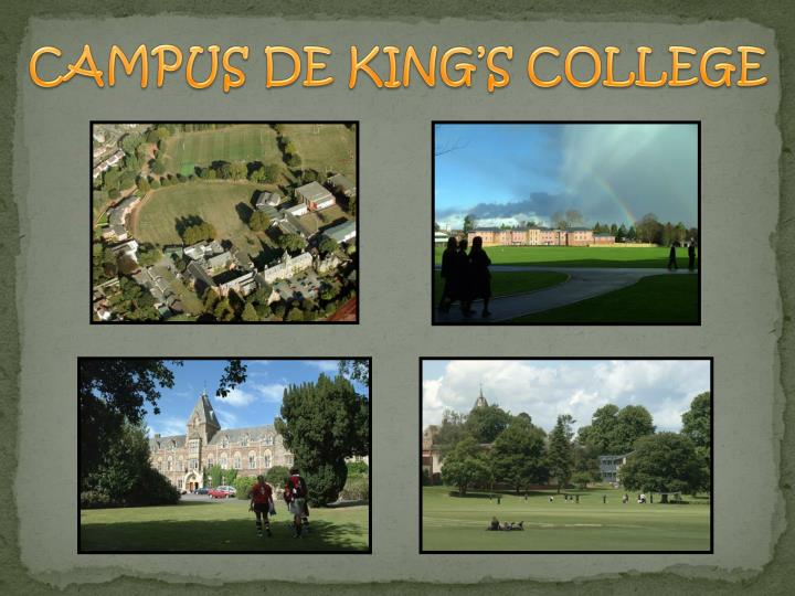 CAMPUS DE KING'S COLLEGE