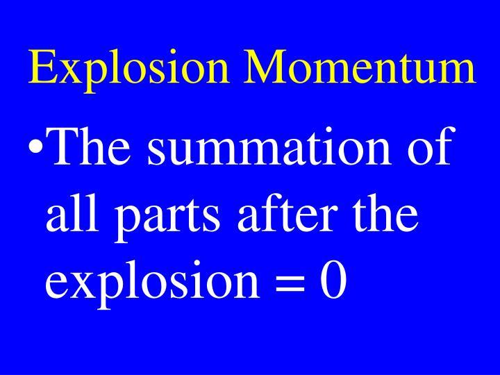 Explosion Momentum