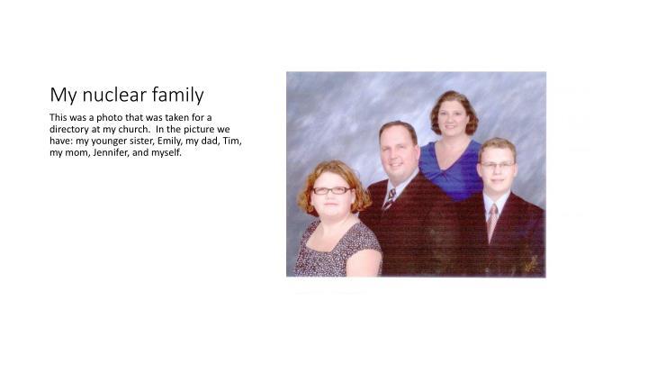 My nuclear family