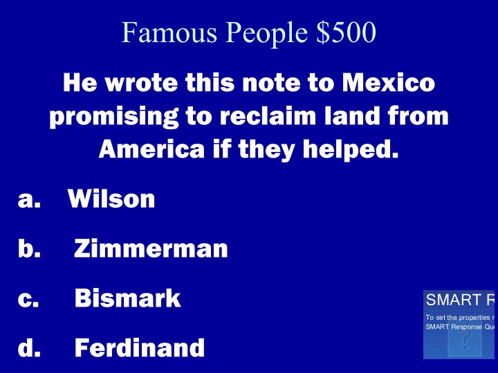 Famous People $500