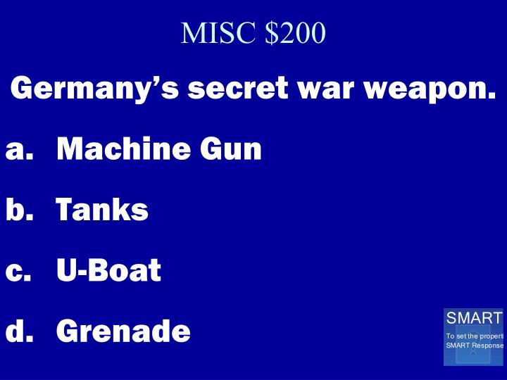 MISC $200