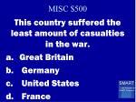 misc 500