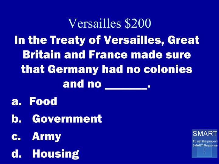 Versailles $200