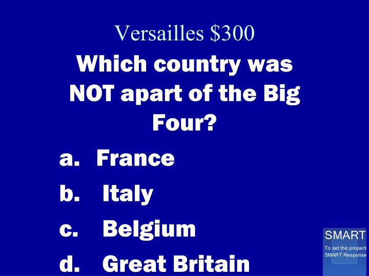 Versailles $300