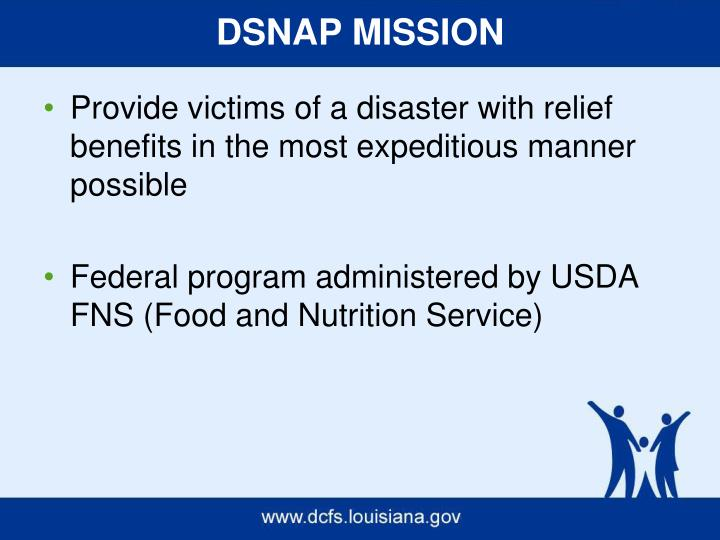 DSNAP MISSION