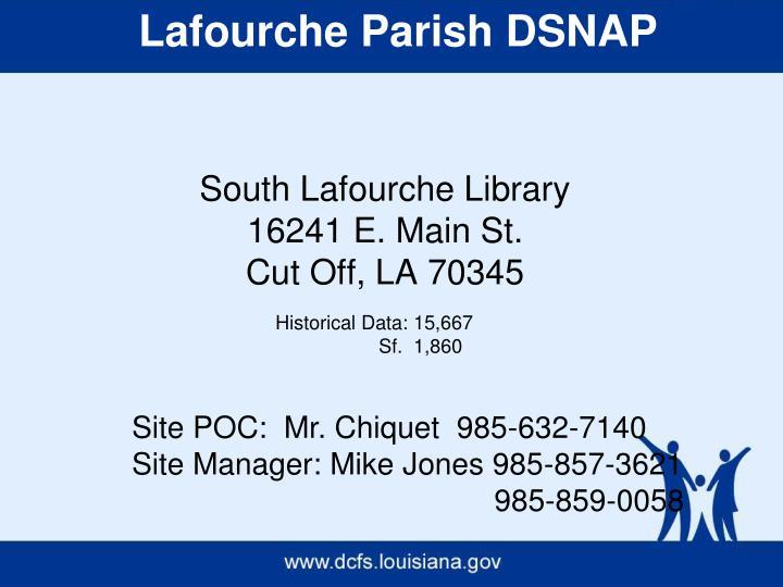 Lafourche Parish DSNAP
