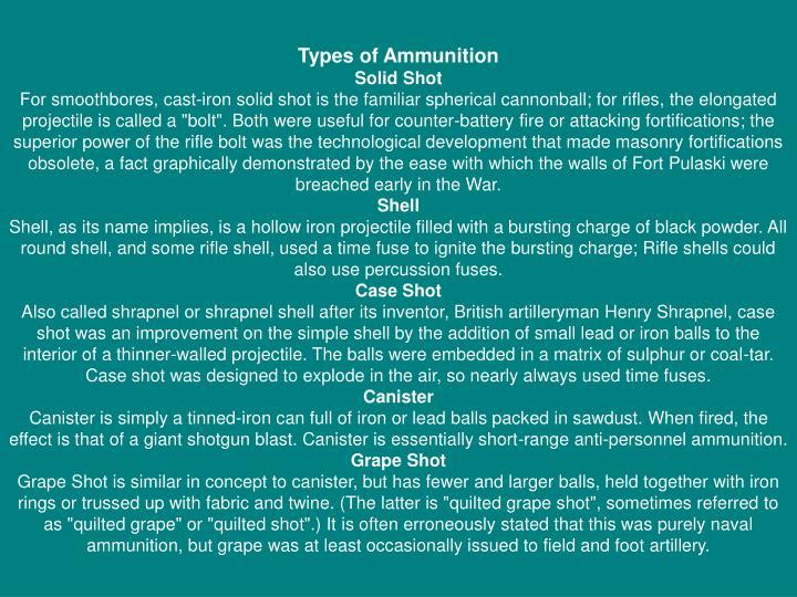 Types of Ammunition