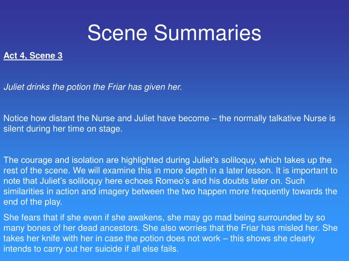 Scene Summaries