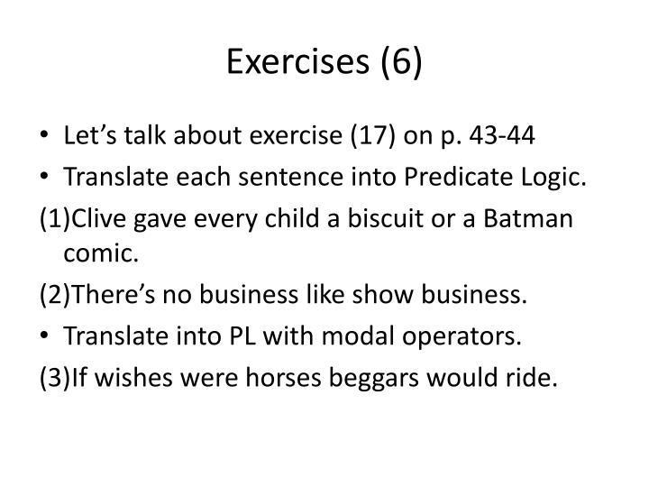 Exercises (6)