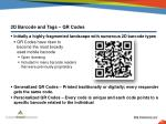 2d barcode and tags qr codes