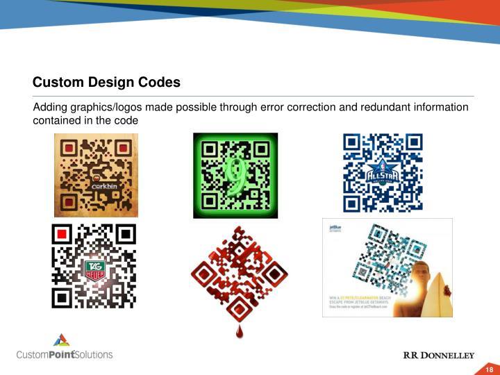 Custom Design Codes