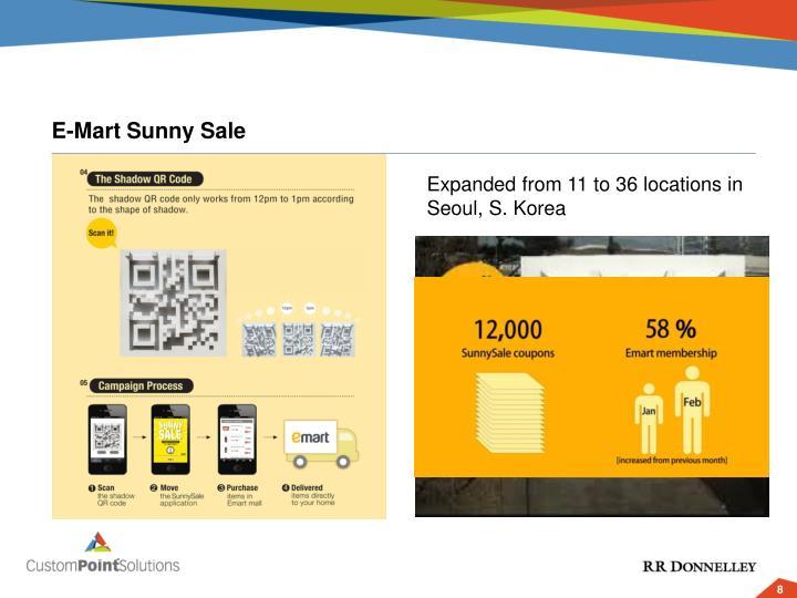 E-Mart Sunny Sale