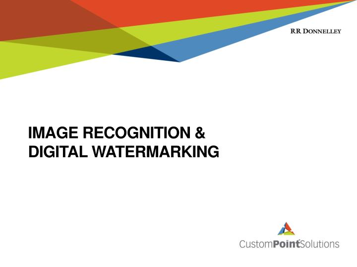 Image Recognition &