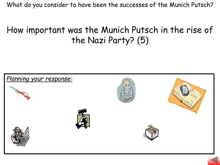 What do you consider to have been the successes of the Munich Putsch?