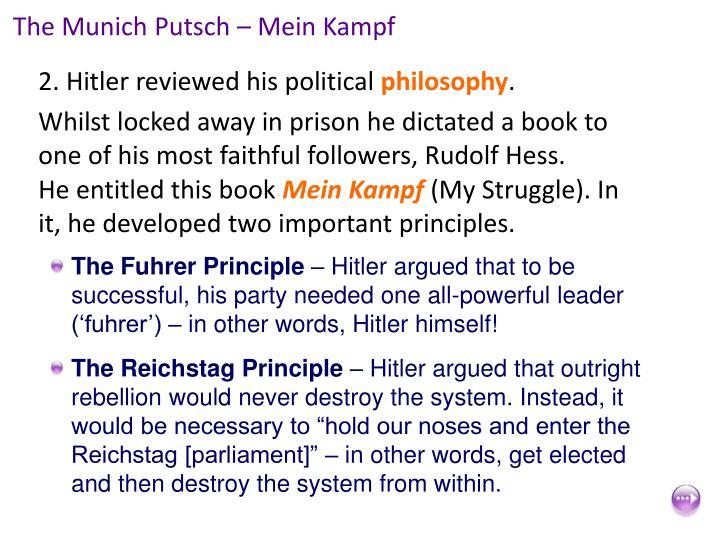 The Munich Putsch – Mein Kampf