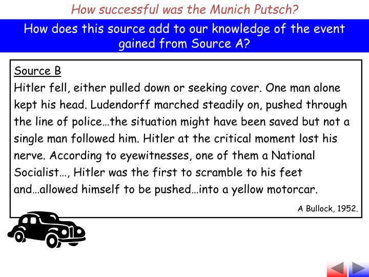 How successful was the Munich Putsch?