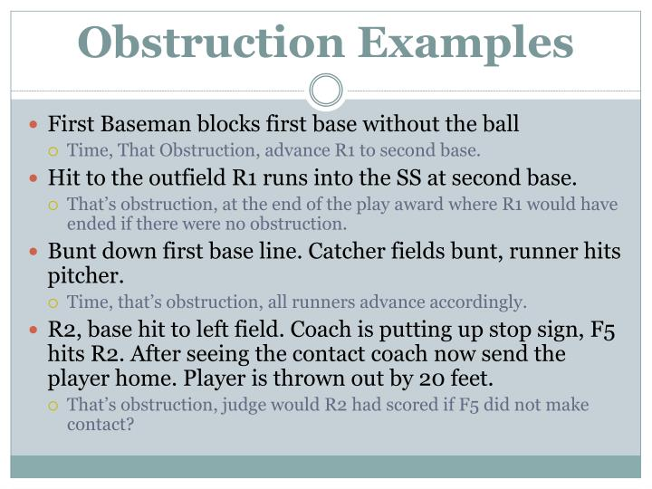 Obstruction Examples