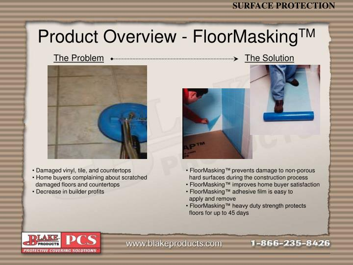 Product Overview - FloorMasking