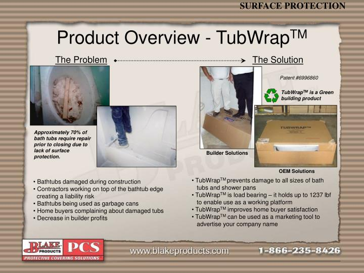 Product overview tubwrap tm