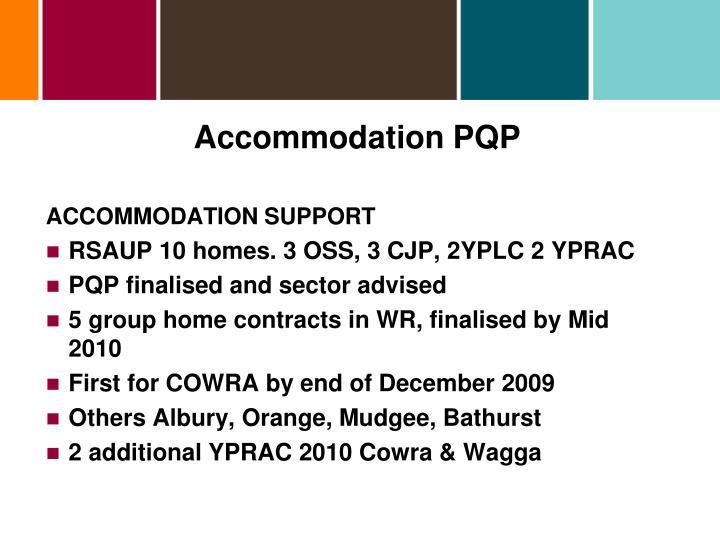 Accommodation PQP