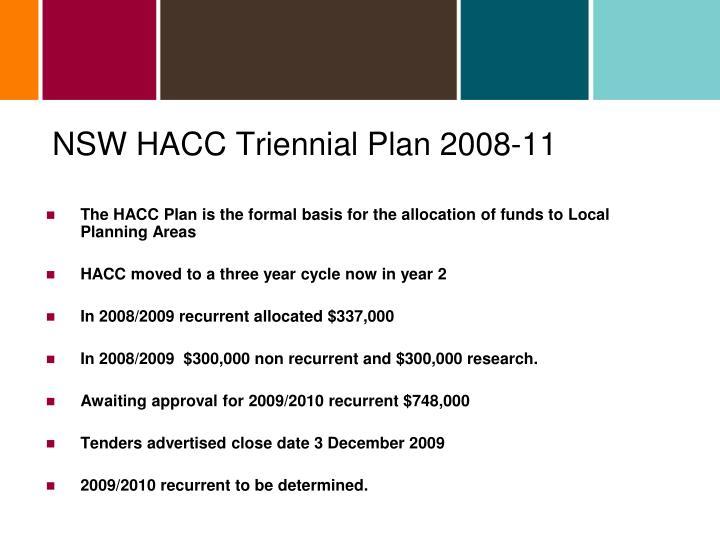 NSW HACC Triennial Plan 2008-11