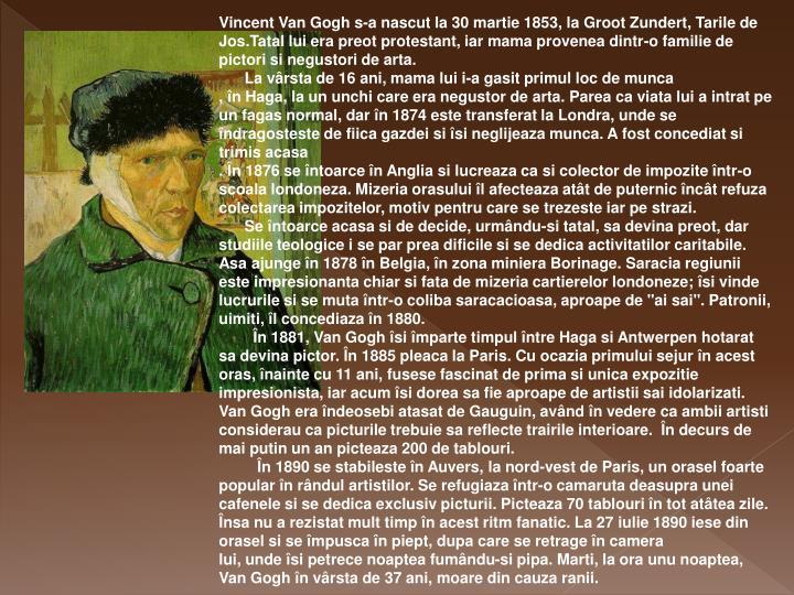 Vincent Van Gogh s-a