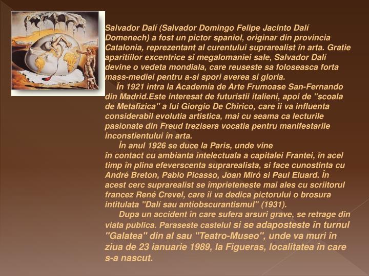 Salvador Dalí (Salvador Domingo Felipe Jacinto Dalí