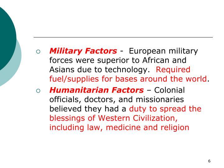 Military Factors