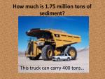 how much is 1 75 million tons of sediment