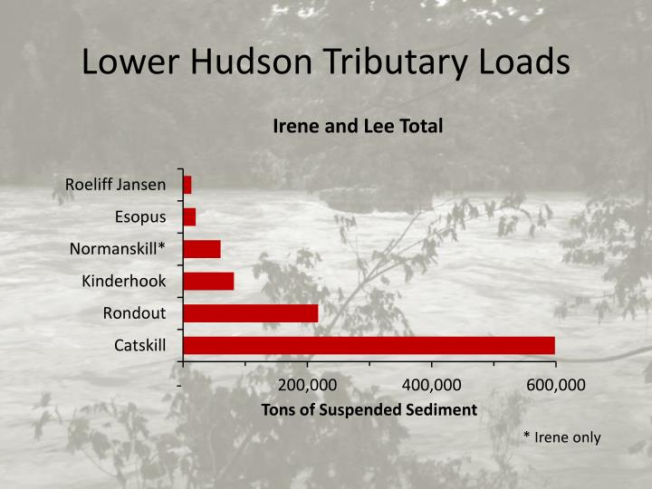 Lower Hudson Tributary Loads