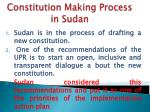 constitution making process in sudan