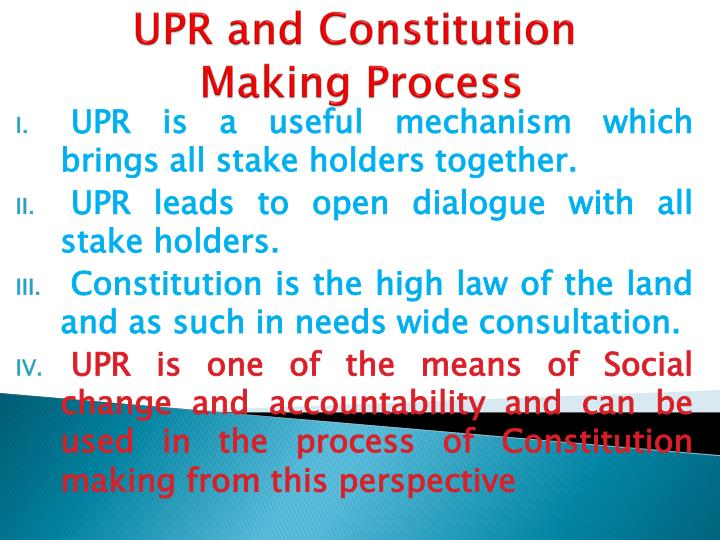 UPR and Constitution
