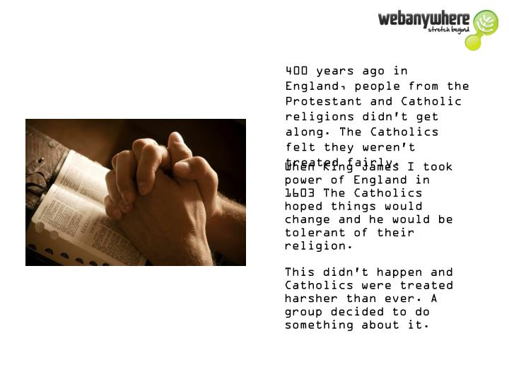 400 years ago in England