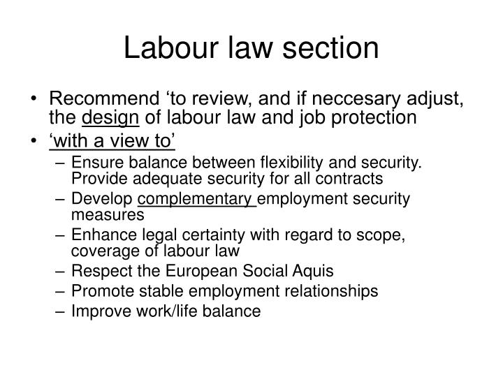 Labour law section