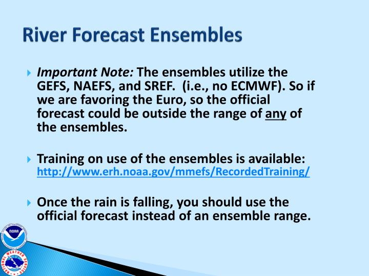 River Forecast Ensembles