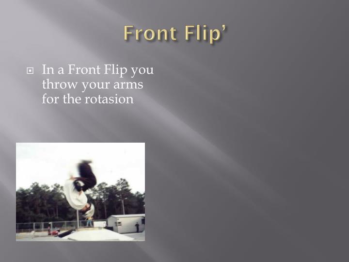 Front Flip'