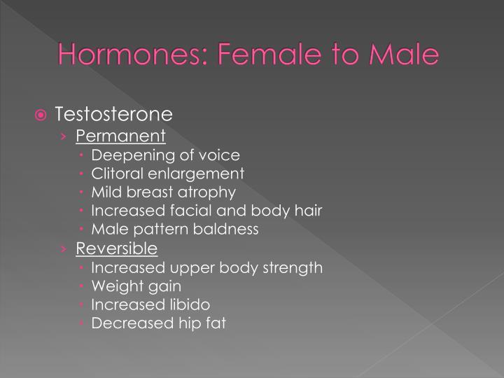Hormones: Female to Male