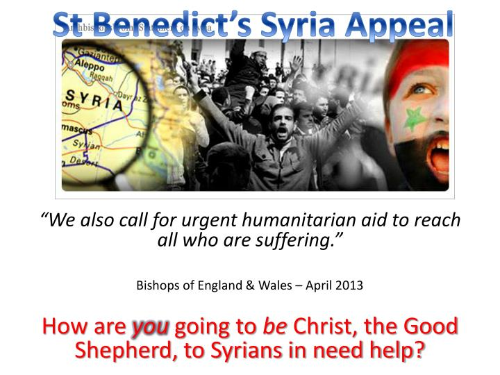 St Benedict's Syria Appeal