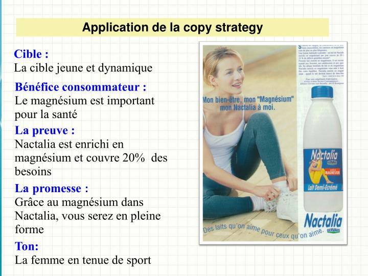 Application de la copy strategy