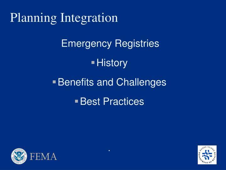 Planning Integration
