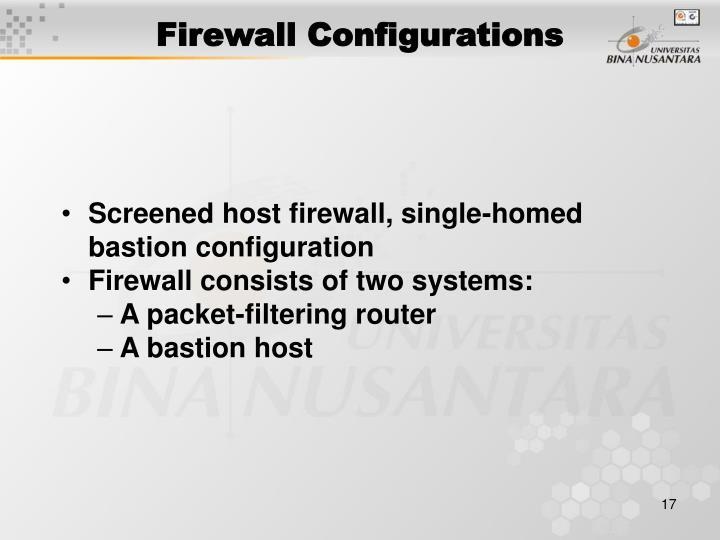 Firewall Configurations
