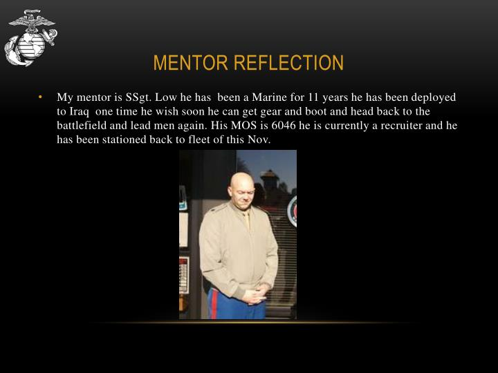 Mentor Reflection