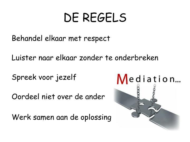 DE REGELS