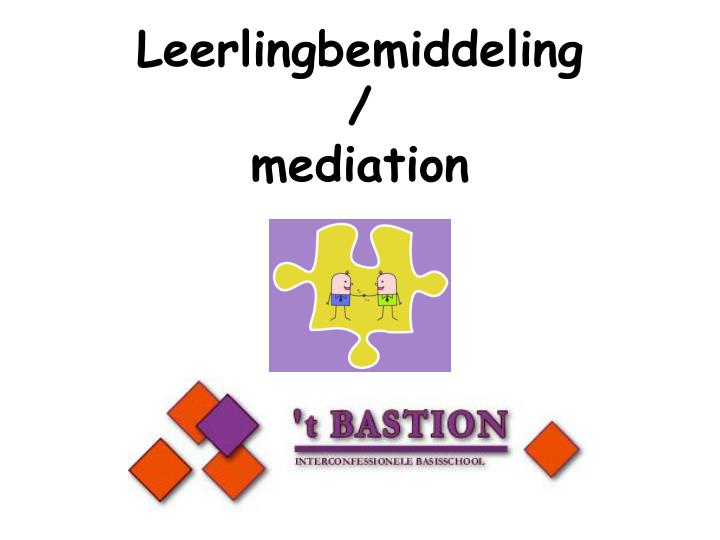 Leerlingbemiddeling mediation