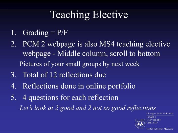 Teaching Elective
