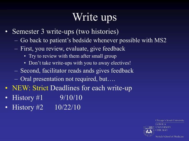 Write ups