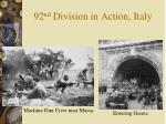 92 nd division in action italy