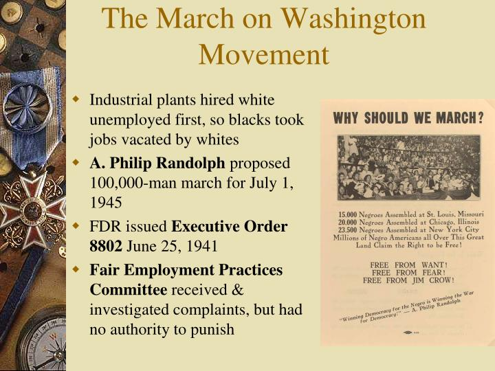 The march on washington movement