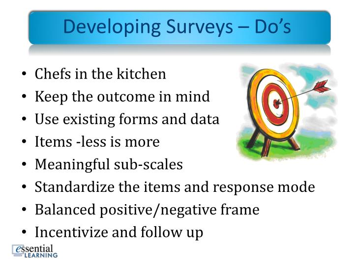 Developing Surveys – Do's
